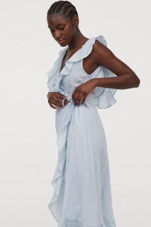 Katoenen jurk met volants
