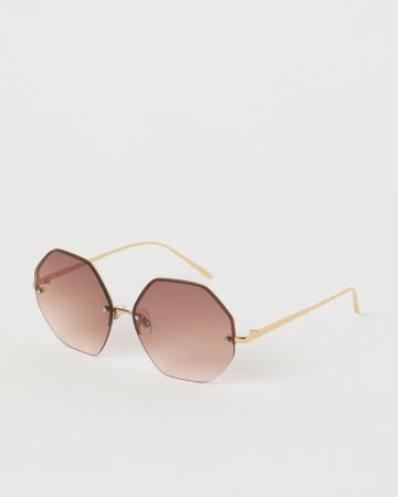Hoekige zonnebril
