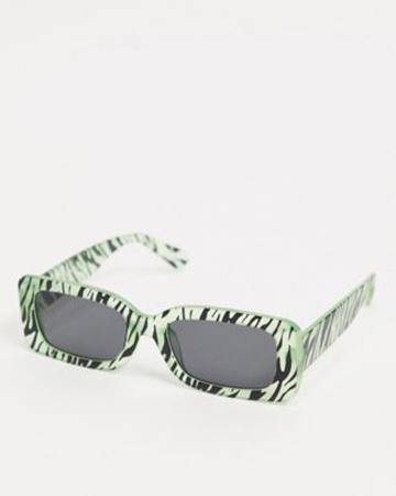 Glow in the dark zonnebril zebraprint