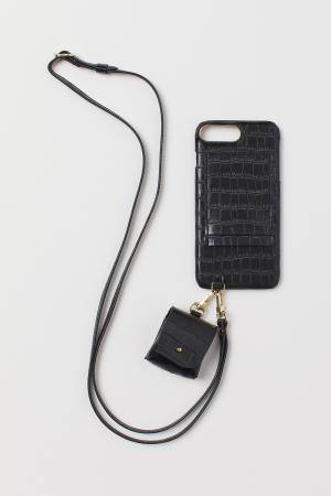 Zwarte case + apart zakje voor AirPods