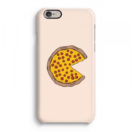 Lichtroze hoesje met pizza