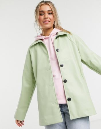 Groen jasje in nepleer