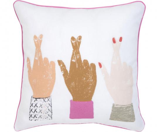Katoenen kussenhoes 'Hands'