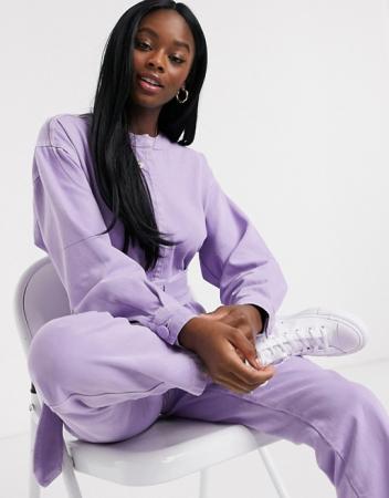 Lavendelkleurige jumpsuit