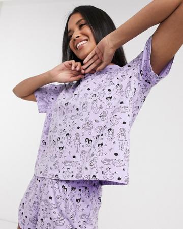 Lila pyjama