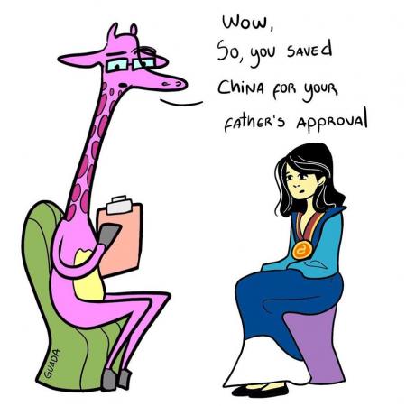 Mulan deed alles gewoonweg om de goedkeuring van haar vader te krijgen.