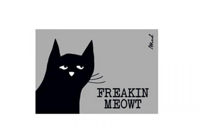 """Paillasson """"Freakin meowt"""""""
