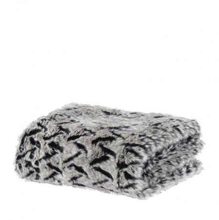 Grijze deken met patroon