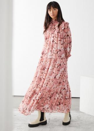 Poederroze jurk met smock