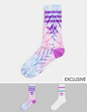 2 paar sokken met mix van paarse accenten
