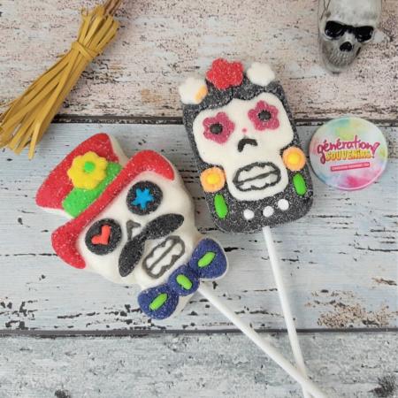 Sucettes têtes de mort mexicaines