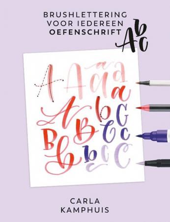 'Brushlettering voor iedereen'-oefenschrift van Carla Kamphuis