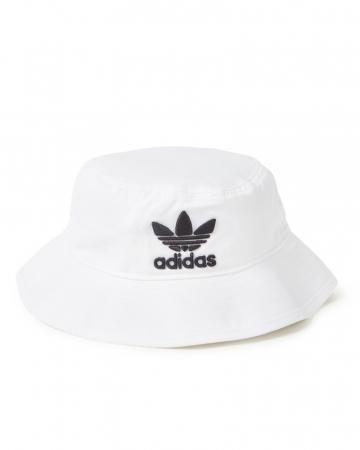Witte bucket hat met logo