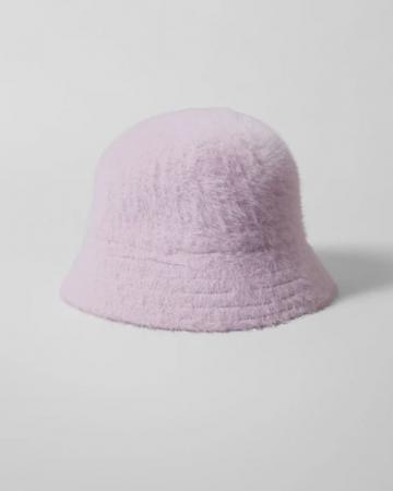 Lila zachte bucket hat