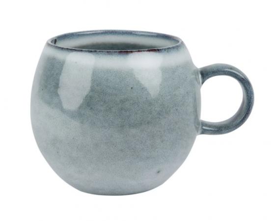 Mok van grijsblauw aardewerk (set van 2)