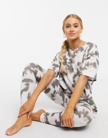 Pyjama met tie-dyeprint