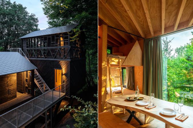 Une cabine dans les bois à La Roche-en-Ardenne