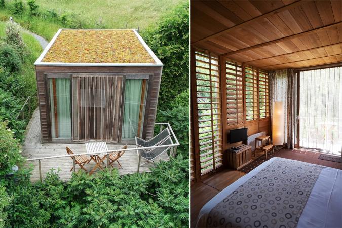 Une cabane dans une lisière à Durbuy