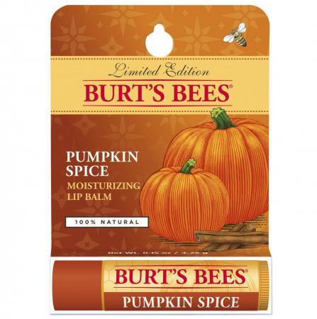 Baume hydratant pour les lèvres à la cire d'abeille et citrouille épicée de Burt's Bees