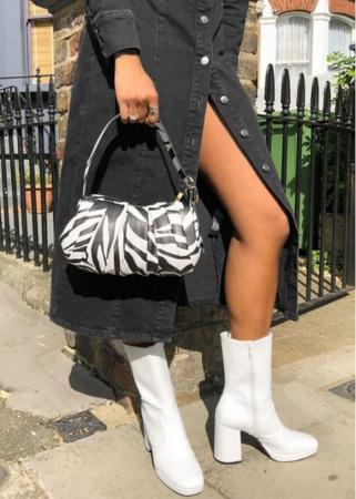 Handtas in zebraprint