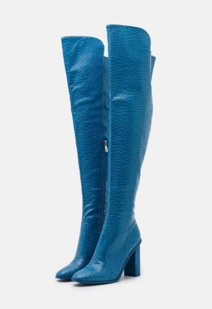 Blauwe knielaarzen