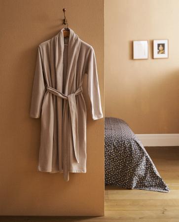 Beige badjes in fleece
