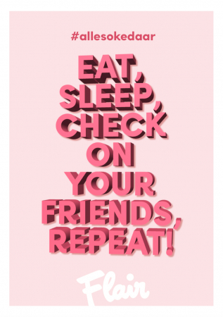 Eat, sleep, check on your friends, repeat!