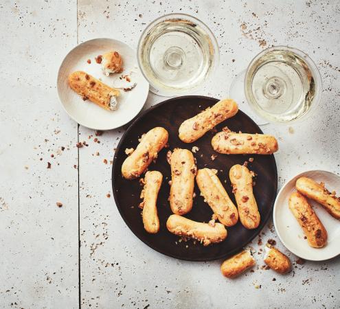 Franse kaas-eclairs