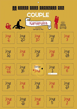 Calendrier Kamasutra – 25 défis positions