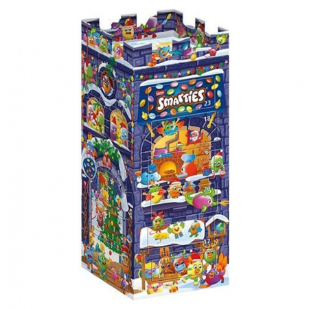 3D-adventskalender met Smarties