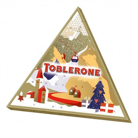 Adventskalender met Toblerone-chocolade