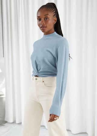 Lichtblauwe trui