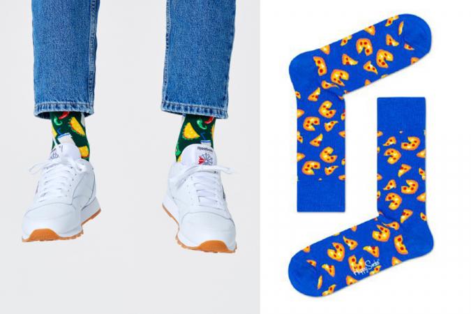 Verliefd in iemands ogen staren is er even niet bij, maar verliefd naar zijn/haar <em>favourite food</em> staren kan nog altijd. Zeker met deze sokken.