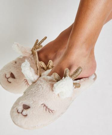 Pantoffels met rendier