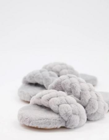 Lichtgrijze slippers