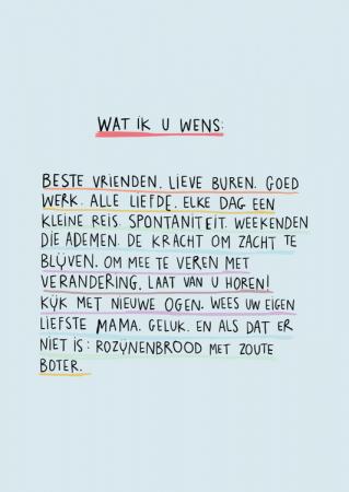 Wenskaart 'Wat ik u wens'