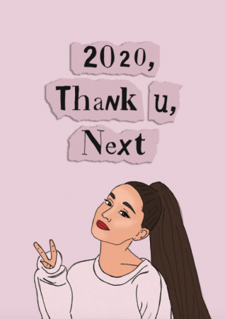 Wenskaart '2020, thank u, next'