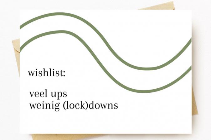 Wenskaart 'Wishlist: veel ups, weinig (lock)downs'