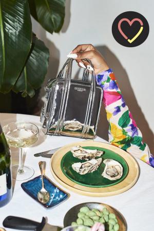 Zilverkleurige handtas voor de echte fashionista
