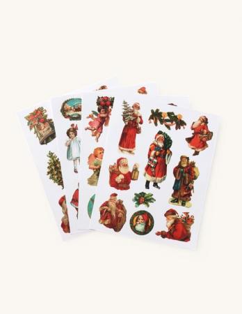 Set van 4 vellen kerststickers