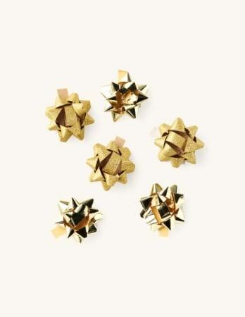 Set van 6 goudkleurige zelfklevende strikjes