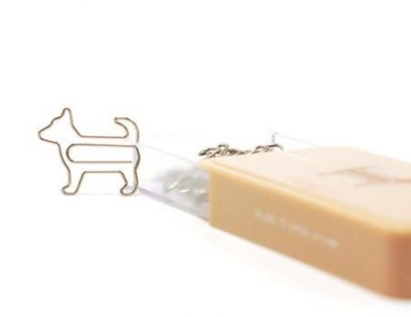 Paperclips in de vorm van een hond