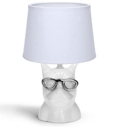Lamp met bulldog