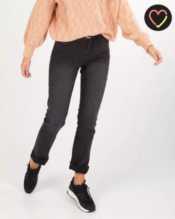 Zwarte rechte Jeans