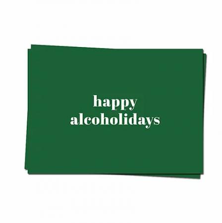 Wenskaart 'Happy alcoholidays'