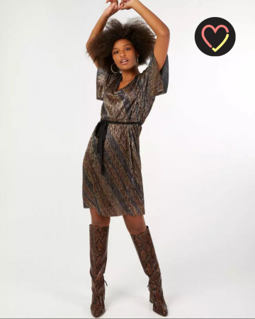 Zwarte jurk met kleurschakeringen