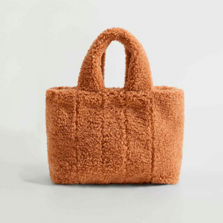 Handtas in teddy