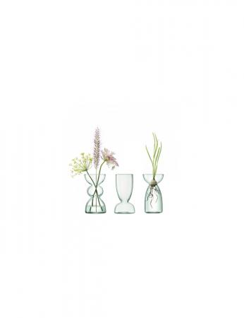 Trio de vases en verre recyclé