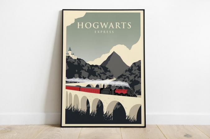 Un poster Poudlard Express