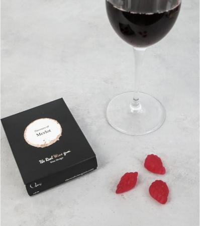 Une boîte de bonbons au vin